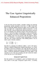 The Case Against Linguistically Enhanced Propositions