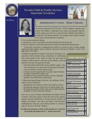Nevada Child & Family Services Statewide Newsletter - Division of ...