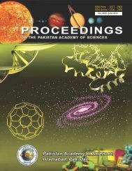 250116bdProceedings 50 No. 2, 2013.pdf - Pakistan Academy of ...