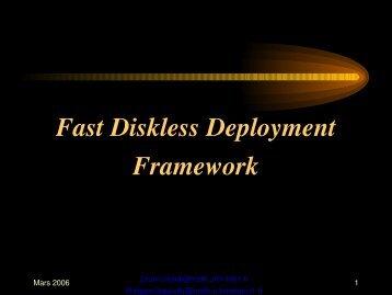 Fast Diskless Deployment Framework - Mathrice