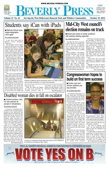10/25/2012 - Park Labrea News and Beverly Press