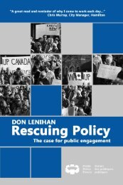 Rescuing Policy - Public Policy Forum