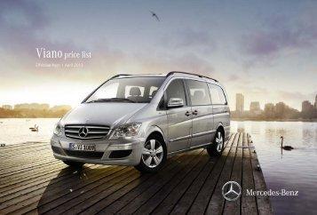 Viano price list - Mercedes-Benz