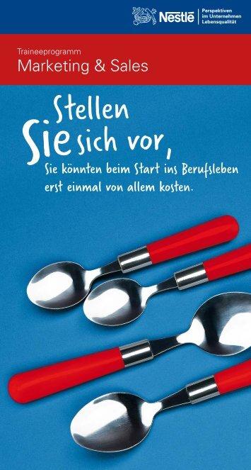 Traineeprogramm Marketing & Sales - Nestlé Deutschland AG