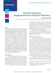 The Role of Enzyme Supplementation in Digestive Disorders