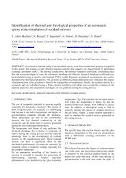 Identification of thermal and rheological properties of an aeronautic ...