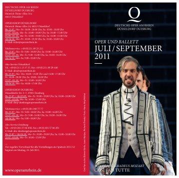 Download Spielplan Juli September 2011 Deutsche Oper ... - IOCO