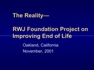 PDF 357 KB / 57 pages - Promoting Excellence in End-of-Life Care