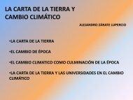 LA CARTA DE LA TIERRA Y CAMBIO CLIMÁTICO