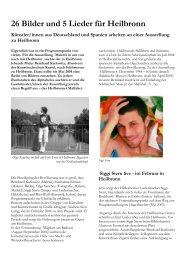 26 Bilder und 5 Lieder für Heilbronn - malfabeten.de