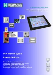 DS-6 Intercom System Product Catalogue - Neumann Elektronik