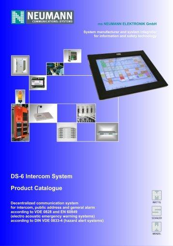 DS-6 Intercom System Product Catalogue - Neumann Elektronik
