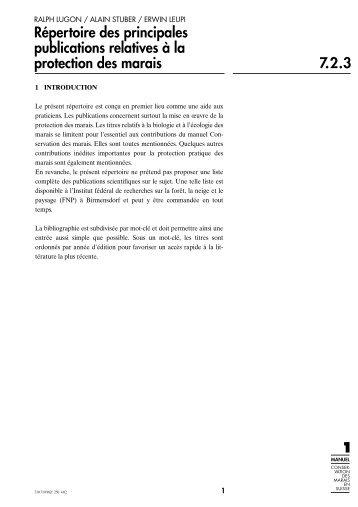 Répertoire des principales publications relatives à la ... - KBNL
