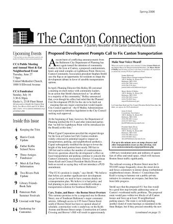 The Canton Connection - Active Voice Writing and Editorial Services