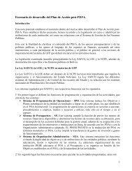 Escenario de desarrollo del Plan de Acción post-PEFA