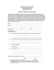 Request for Public Records form - Borough of Oakland
