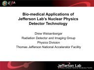 Bio-medical Applications of Jefferson Lab's Nuclear Physics ...
