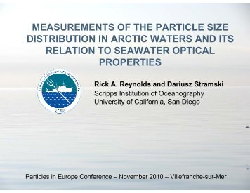 measurements of the particle size distribution in arctic waters ... - LTHE