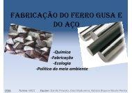 Fabricação do Ferro Gusa e do Aço - IFBA
