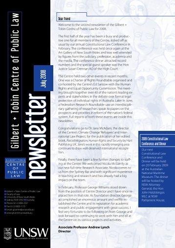 July 2008 - Gilbert + Tobin Centre of Public Law - The University of ...