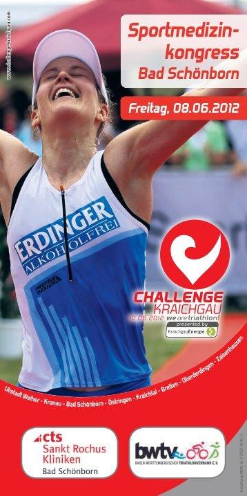 Flyer-Sportmedizinkongress - Challenge Kraichgau