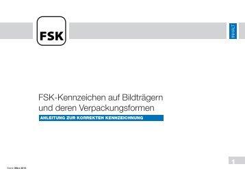 Anleitung zur korrekten Kennzeichnung - FSK