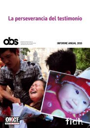 Informe Anual 2010 - World Organisation Against Torture
