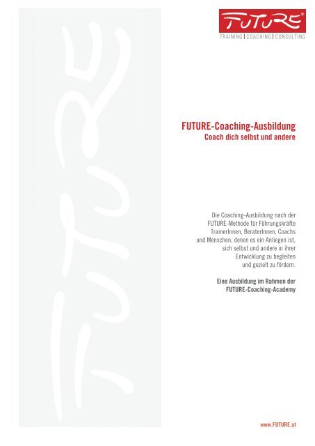 Future-Coaching-Ausbildung 2011