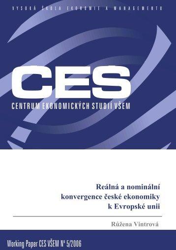 Working Paper CES VÅEM No 5/2006