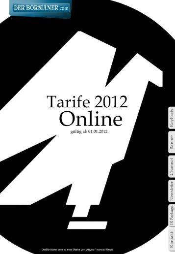 Werbe-Tarife - DerBörsianer