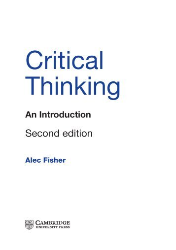 critical thinking alec fisher summary