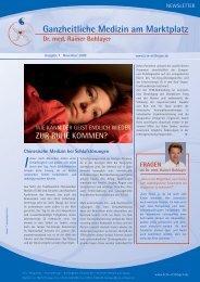 Newsletter (Ausgabe 7, November 2009) - Praxis Dr. med. Rainer ...