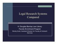 Legal Research Systems Compared - Syracuse University College ...