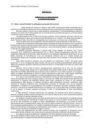 Capitolo 3 - Problematiche e criticità del bacino - Piani di Bacino
