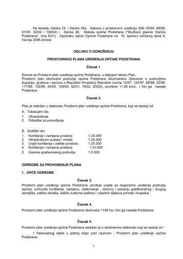 Prostorni plan uređenja općine Podstrana (.pdf) - Općina Podstrana