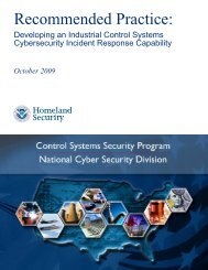 Developing an Industrial Control Systems Cybersecurity Incident ...