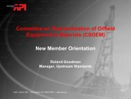 Committee on Standardization of Oilfield ... - My Committees