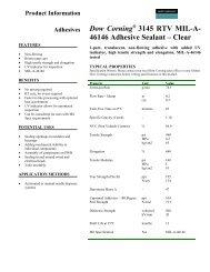 Dow Corning 3145 RTV MIL-A- 46146 Adhesive ... - C3 Teknoloji