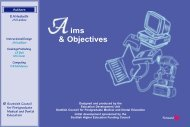 Aims and Objectives - NHS Education for Scotland