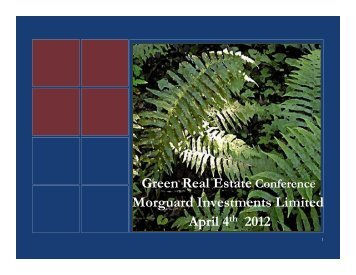 Green Real Estate Conference Morguard Investments Limited April ...