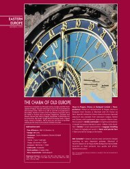ThE chARM OF OlD EuROpE - Exotik Tours