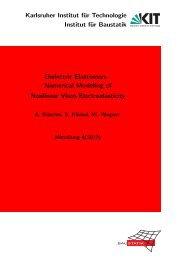 Numerical Modeling of Nonlinear Visco-Elect - am Institut für Baustatik