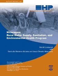 Nicaragua - Environmental Health at USAID