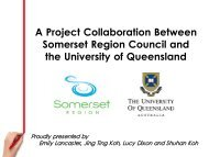 Lockyer Valley - School of Tourism - University of Queensland