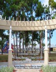 2012-2013 Budget Document(6.98 MB) - City of Fort Pierce