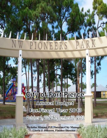 2012-2013 Budget Document(6.98 MB) - City of Fort Pierce