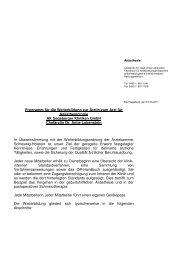 Programm für die Weiterbildung zur Ärztin/zum Arzt für ...