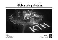 Globus och grid-status