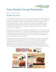 Tony Roma's Co-op Promotion
