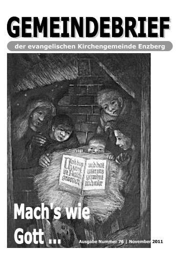 Gemeindebrief_Nr76 - 3.2011.pub - Evangelische Kirchengemeinde ...